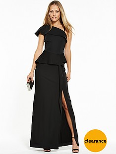 v-by-very-one-shoulder-peplum-waist-maxi-dress-with-front-split