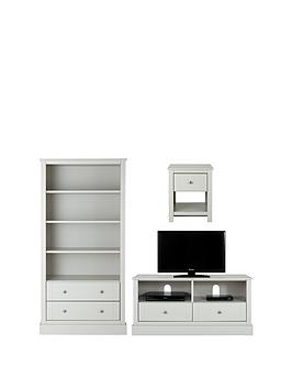 consort-dover-ready-assembled-3-piece-living-room-set-storage-bookcase-tv-unit-and-lamp-table-grey-buy-and-save