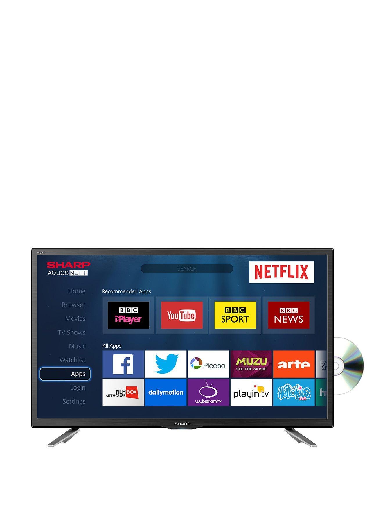 sharp 24 inch smart tv. Sharp Sharp, LC-24DHG6131K, 24 Inch, DVD Combi, HD Ready, Smart TV | Very.co.uk Inch Tv H