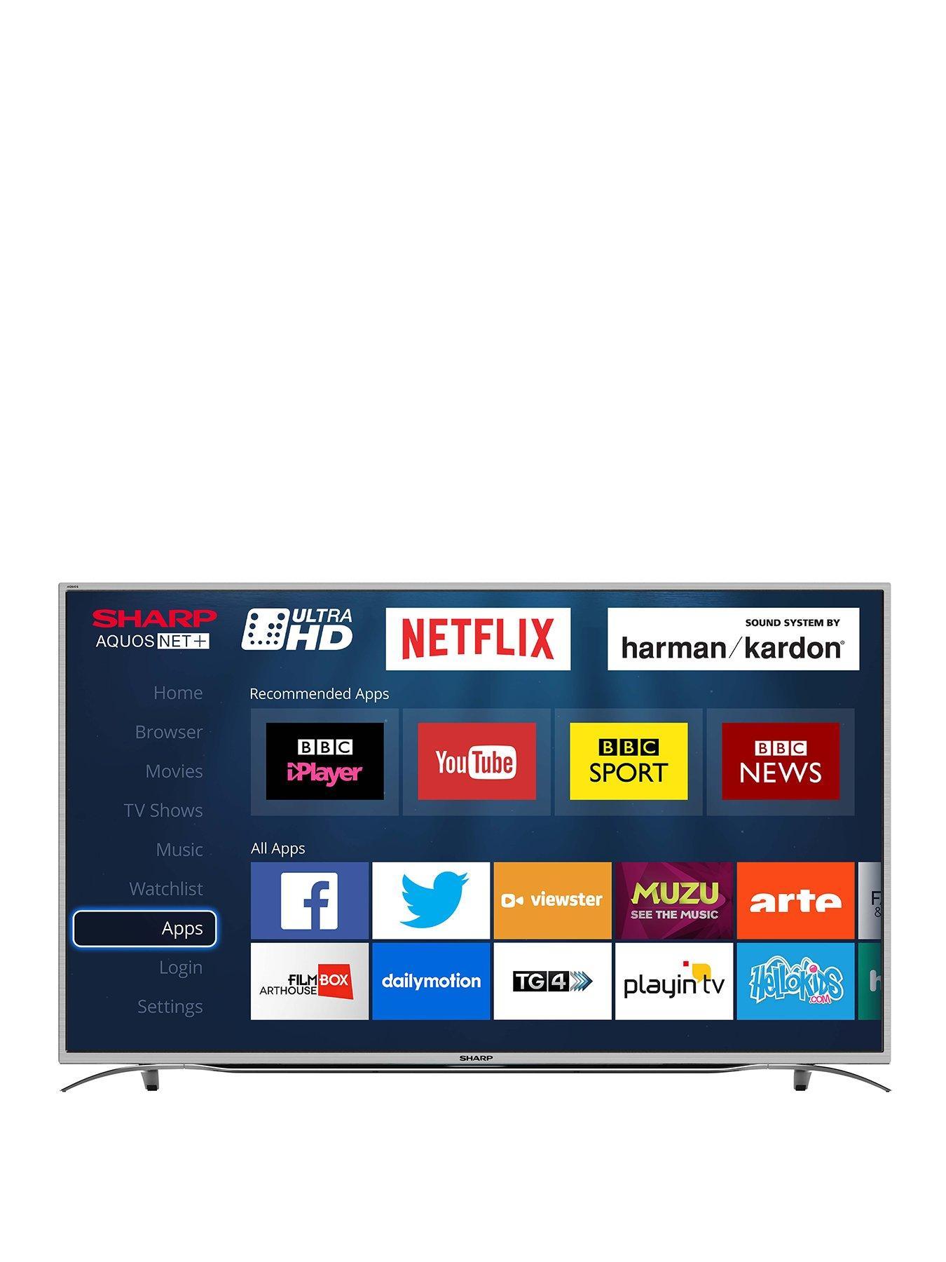 sharp 55 inch lc 55cug8052k 4k ultra hd smart led tv. sharp lc-55cug8362ks 55 inch, 4k ultra hd certified, smart tv - black | very.co.uk inch lc 55cug8052k 4k hd led tv d