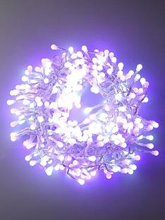 350-white-amp-purple-indooroutdoor-multifunction-led-cluster-cherry-christmas-chaser-lights