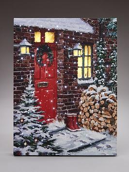 red-door-light-up-canvas-wall-art-christmas-decoration