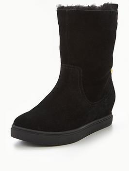 kg-scorpio-faux-fur-cuff-ankle-boot