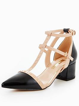 Miss Kg Averie Caged Block Heel Sandal