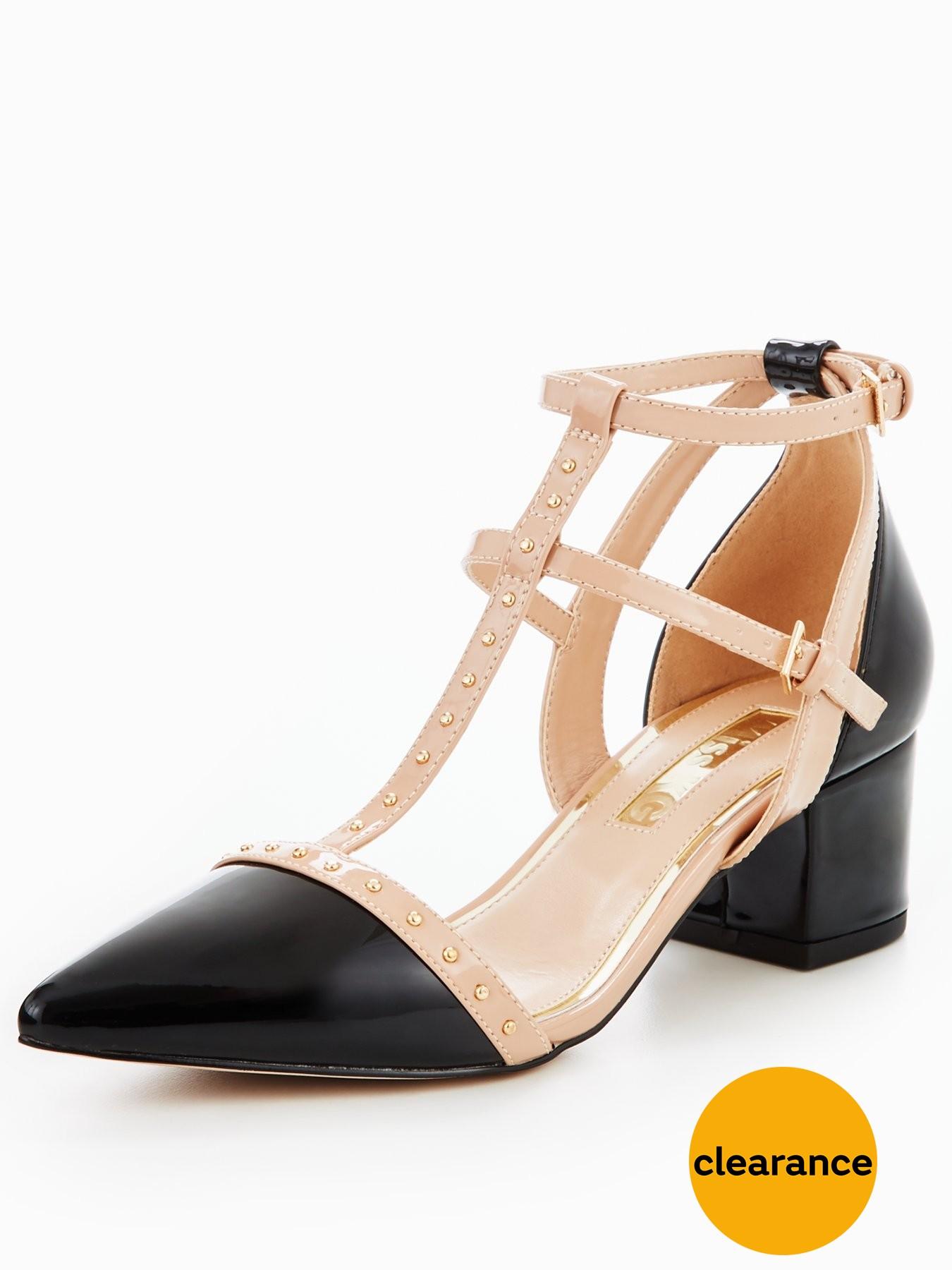 Miss KG Averie Caged Block Heel Sandal 1600179905 Women's Shoes Miss KG Heels