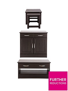 consort-kensingtonnbspready-assembled-3-piece-living-room-set-compact-sideboard-coffee-table-and-nest-of-tables-buy-and-save