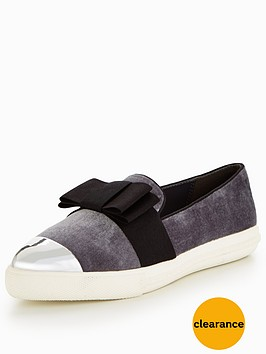miss-kg-lisa-bow-plimsoll-grey