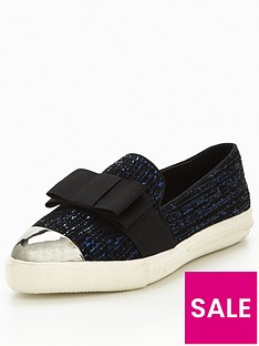 miss-kg-lisa-bow-plimsoll-navy