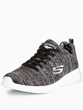 skechers-ultra-flex-first-choice-lace-up-trainer-blackwhite