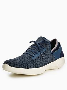 skechers-you-inspire-lace-up-trainer-navy