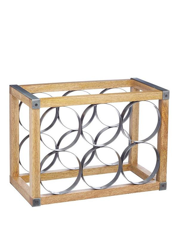 Industrial Kitchen Wine Rack
