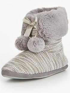 v-by-very-comet-sequin-embellished-pom-pom-bootienbsp-nbspgrey