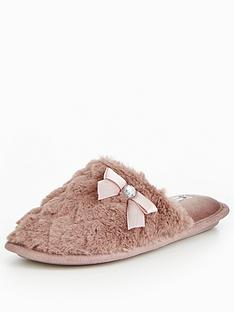 v-by-very-snowy-heart-print-faux-fur-mule-slipper-mink