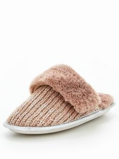 v-by-very-ruby-sequin-embellished-knitted-mule-slipper-grey
