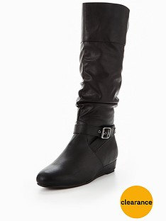v-by-very-roberta-buckle-low-wedge-calf-boot-black
