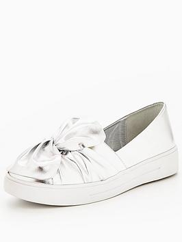 v-by-very-gia-knotted-front-trainer-silver-metallic