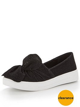 v-by-very-gia-knotted-front-trainer-black-lurex