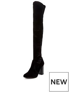v-by-very-asia-block-heel-velvet-over-the-knee-boot-black