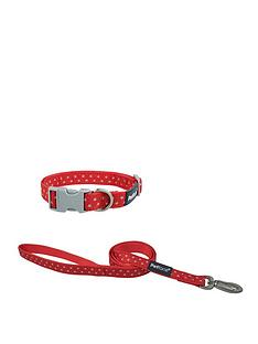 petface-grey-stars-medium-dog-collar-amp-lead-set