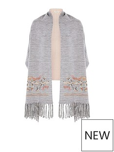river-island-river-island-embriodered-sleeved-scarf