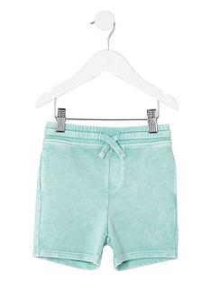 river-island-mini-boys-light-green-washed-jersey-shorts