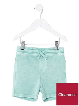 river-island-mini-boys-light-green-washed-jersey-shorts
