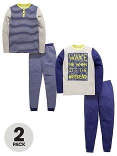 v-by-very-2pk-stripe-jersey-pyjamas