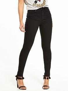 v-by-very-ella-high-waist-tassle-trim-skinny-jean-black