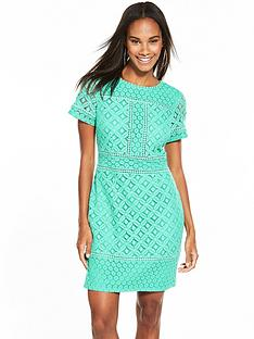 oasis-frill-lace-shift-dress-aqua