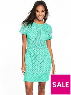 oasis-frill-lace-shift-dress-aqua