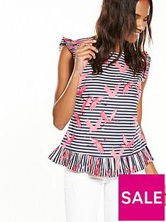 oasis-stripe-flamingo-shell-top