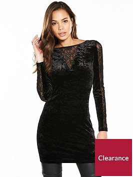 v-by-very-lace-panel-velvet-tunic