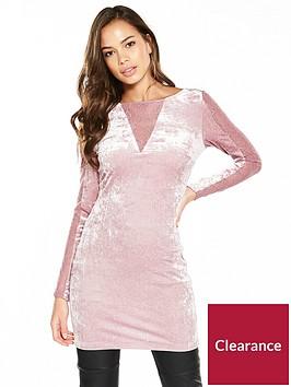 v-by-very-lace-panel-velvet-tunic-dusty-rose