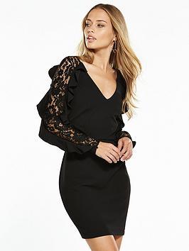 v-by-very-lace-insert-frill-dress