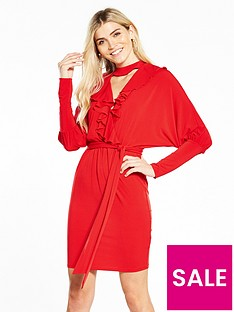 v-by-very-ity-frill-dress-red