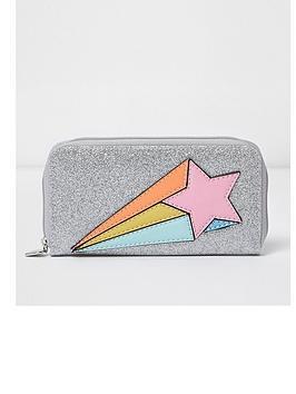 river-island-river-island-girls-large-ziparound-glitter-shooting-star-purse