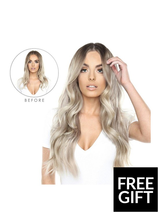 845c3579c Beauty Works Double Hair Set Clip-In Extensions - NEW Root Blend Colour  Collection 18 Inch 100% Remy Hair - 180 grams