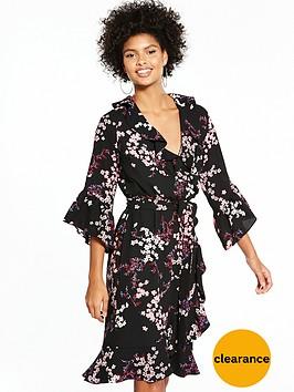 v-by-very-printed-frill-wrap-midi-dress