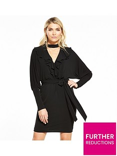 v-by-very-batwing-frill-dress