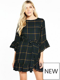 v-by-very-check-frill-wrap-dress