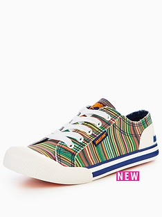 rocket-dog-jazzin-bubble-stripe-plimsoll