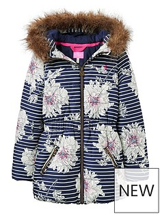 joules-girls-belmont-print-waisted-padded-coat