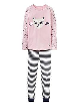 joules-girls-sleepwell-cat-print-pyjamas