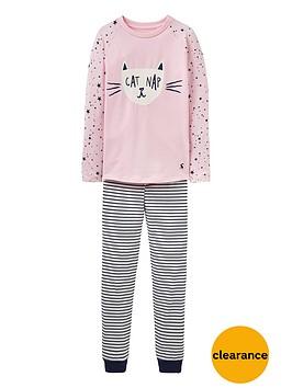 joules-girls-sleepwell-cat-print-pyjamas