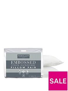 Embossed Microfibre Pillows (Pair)