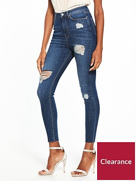 v-by-very-ella-high-waist-ripped-skinny-jean-dark-wash