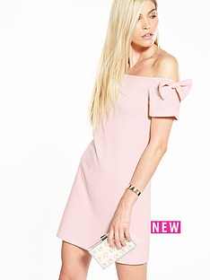 v-by-very-bow-bardot-crepe-dress-blush-pink