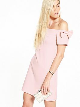 v-by-very-bow-bardot-crepe-dress-blush-pink