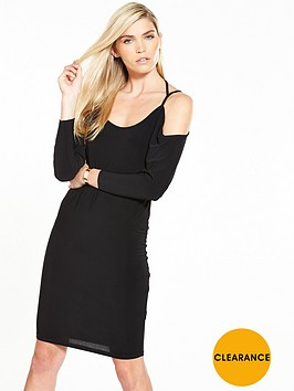 v-by-very-cross-back-slinky-midi-dress-black