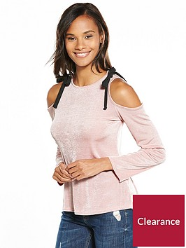v-by-very-cold-shoulder-slinky-top-pink